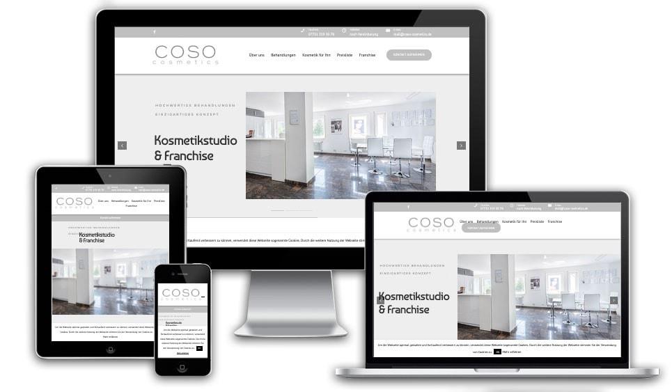 webseite coso cosmetics